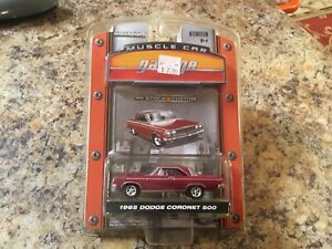 1965 Dodge Coronet 500 Red Greenlight Muscle Car Garage New In Package