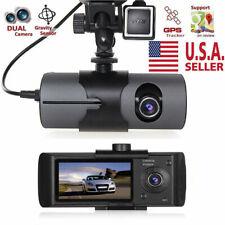 Dual Lens GPS Camera HD Car DVR Dash Cam Video Recorder Night Vision G-Sensor US