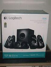 Logitech - Z506 5.1 Surround Sound Speakers (6-Piece) - Black