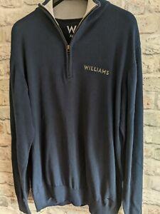 Williams F1 Formula 1 racing team issue long sleeve quarter zip