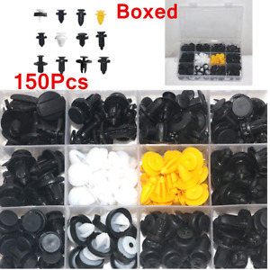 150Pcs Car Body Plastic Push Pin Rivet Fasteners Trim Panel Moulding Clip Kit