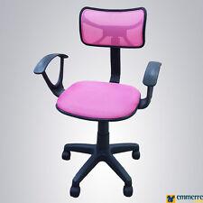 Sedia per scrivania-ufficio con braccioli colore Rosa C8362H