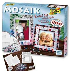 Folia Mosaik Bastel Set XXL, über 800 Teile inkl. 2 Bilderrahmen