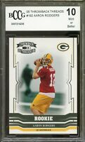 2005 Throwback Threads #192 Aaron Rodgers Rookie Card BGS BCCG 10 Mint+