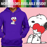 Peanuts Snoopy Charlie Brown Comics Heart Hug Pullover Sweatshirt Hoodie Sweater