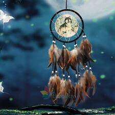 Dream Catcher With Feathers Fantasy Wall Art Hanging Decor Ornament Wolf Gift #A