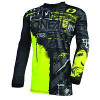 O'Neal 2021 Men's Element Racewear Ride Jersey Black/Neon All Sizes