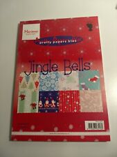 MARIANNE DESIGN JINGLE BELLS PAPER BLOC 32 SHEETS/8 DESIGN 21X15 CM NEW