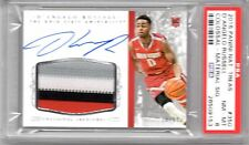 D'Angelo Russell 2015 National Treasures ROOKIE JERSEY AUTO  4 CLR #70/99 PSA 8