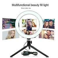 10 'LED Selfie Ringlicht mit Stativ Handyhalter für Live K5U4 Youtube Makeu J3K4