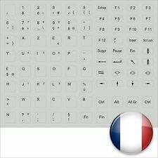 KEYBOARD STICKER FRENCH GREY FRANZÖSISCH TASTATURAUFKLEBER IN GRAU FRANCE