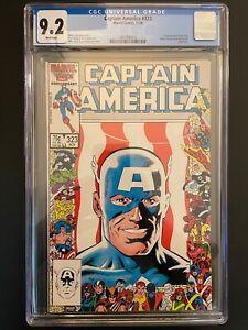Captain America #323 1st App Super Patriot & Battlestar CGC 9.2 Marvel GR1-28