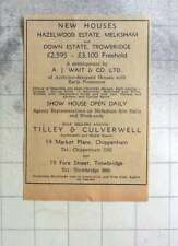 1961 New Houses, Hazelwood Estate Melksham, Down Estate Trowbridge £3100