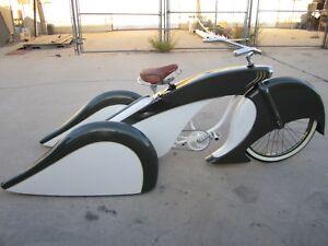 "Custom Fiberglass 26"" bicycle body kit trike lowrider adult cruiser metermaid"