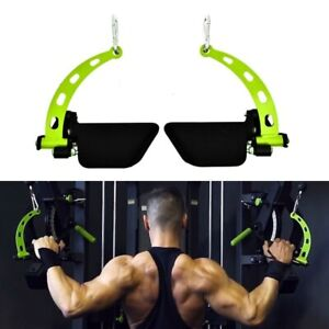 Gym Fitness Lat Pulldown Rowing Bar Pulley Cable Machine T Bar V Bar Attachments