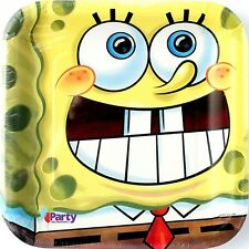 SpongeBob SquarePants Plates x8 Paper Dinner Birthday Party Supplies Decorations