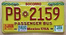 "1995 1995 NEW MEXICO PASSENGER BUS LICENSE PLATE "" PB 2159 "" NM"