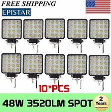 10X 48W SPOT LED Off road Work Light Lamp 12V 24V Car Boat Truck Driving UTE DRL