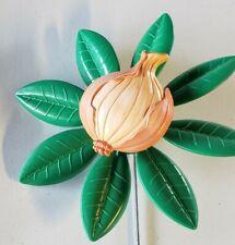 New listing New Vintage 1995 Artline Onion Garden Flower Pinwheel Wind Spinner whirlygig