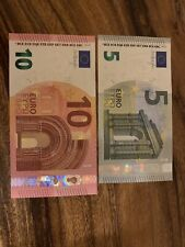 5 + 10 Euro Banknotes. 15 Euros Total. 2 Banknote In Good Circulated Condition.