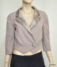 Nwt $598 Marc Jacobs One Button Cropped Blazer Jacket Coat W4631218 ~Taupe *2