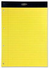 Premier A4 Legal Pad 50 sheets (pkt 5) Yellow  - Punch Refill Pad /Notebook