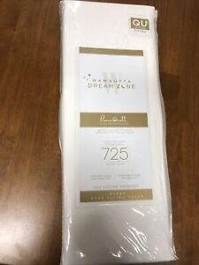 Wamsutta Dream Zone 725 Thread Deep Fitted Sheet Queen Size White Brand New