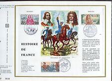 DOCUMENT CEF PREMIER JOUR  1970  TIMBRE N° 1655 - 1656 - 1657 HISTOIRE DE FRANCE
