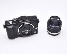 Olympus Pen E-PL2 12.3 MP Black Digital Camera 14-42mm Lens 1140 Shutter (#5846)