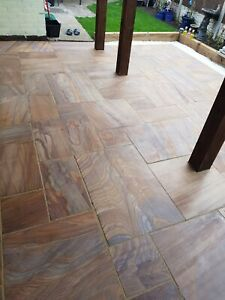 Rainbow Indian Sandstone Sawn & Smooth Paving Calibrated