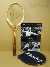 vintage 60s*DUNLOP Maxply* England Laver/McEnroe Pro racket + A3 poster MINT