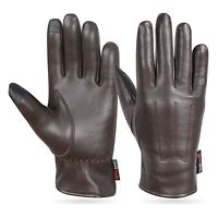 LADIES SOFT REAL LEATHER GLOVES TOUCH SCREEN GENUINE LEATHER  THINSULATE LINING