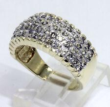 Diamond wedding band ring 14K gold champagne round brilliant 4 row 1.75CT size 8