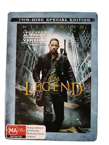 I Am Legend Two Disc Special Edition Metal Case Will Smith DVD