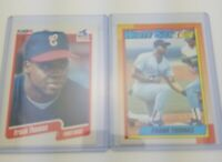 1990 Topps & Fleer FRANK THOMAS RC Rookie Card Chicago White Sox Lot of 2 Cards