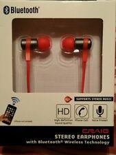 Craig CBH515 Stereo Earphones Bluetooth Wireless In-Ear Ear Buds
