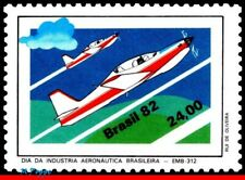 1823 BRAZIL 1982 AVIATION INDUSTRY DAY, EMBRAER, PLANES & AVIATION, MI# 1930 MNH