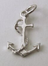GENUINE SOLID 925 STERLING SILVER 3D ANCHOR SHIP Charm/Pendant