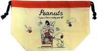 Peanuts Gang Snoopy Shopping Cart Drawstring Lunch Box Bag 72427