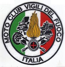 [Patch] MOTO CLUB VIGILI DEL FUOCO cm 13,5 toppa ricamata ricamo termoad -099