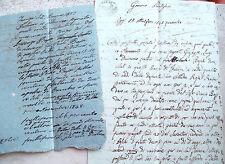 1843 LOTTO DI DOCUMENTI DEL BORGO DI FAENZA SU CARTA BOLLATA