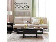 MAKING MEMORIES Home Bedroom Vinyl Wall Decal Words Lettering Quote 24""