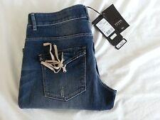 Women's Escada Sport Rear Pocket Tie Jeans Size 10 in Medium Blue-NWT-SRP: $250