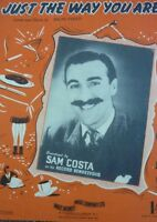 Vintage Sam Csta Just The Way You Are Recording words MUSIC SHEET 1950