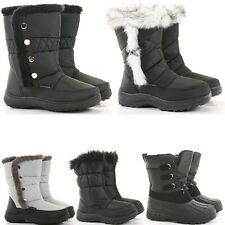 Womens Winter Calf Warm Fur Lined Moon Flat Snow Wellys Wellington Boots Size