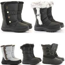 Womens Winter Calf Warm Fur Lined Moon Flat Snow Wellys Wellington Boots Size