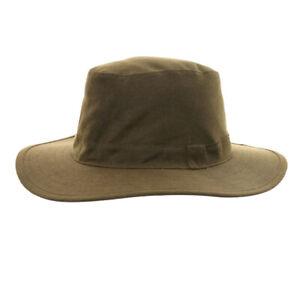 Hawkins Waxed Fedora Hat Wide Brim Wax Cotton Country Fedora