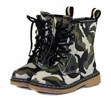 ALYSON-01KA Bady Kids Toddlers Lace Up Boot Party Unisex Dree Shoes Camouflage 4