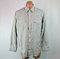 Wrangler X-Long Tails Western Cowboy Striped Shirt Pearl Snap 17 35 Vintage 80s