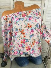 11fdbc486765b8 Neues Angebot♥ Italy Tunika Damen Carmen Bluse BLUMEN Viskose floral bunt 38  40 42 S M